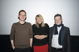 v.l.n.r.: Christian Neubacher, Elke Groen, S. Friedrich (@Berlinale, 2014)